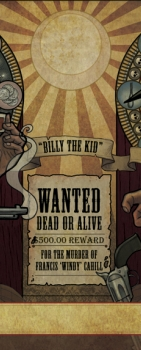 Billy the Kid – 'Legends of the Old West' Book Illustration